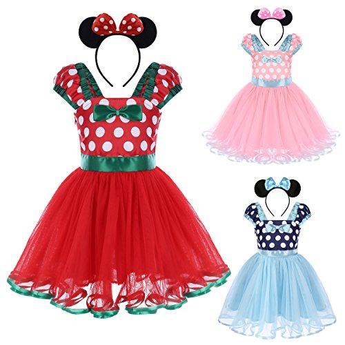 IWEMEK Girl Polka Dots Cosplay Birthday Princess Tutu Dress Up Fancy Christmas Ballet Leotard Costum - http://coolthings.us