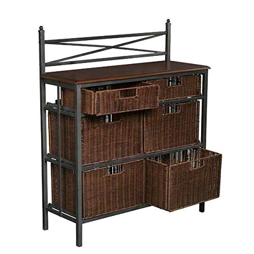 (Darby Home Co 6 Rattan Drawer with Matte Black Metal Frame Storage Chest + Free Basic Design Concepts Expert Guide)