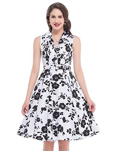 Length Vintage Dress Sleeveless Retro product image