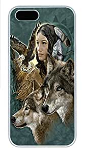 For SamSung Galaxy S4 Phone Case Cover Wild Spirit Maiden Native American PC Hard Plastic For SamSung Galaxy S4 Phone Case Cover Whtie