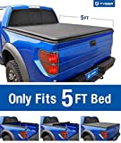 Tyger Auto T1 Roll Up Truck Bed Tonneau Cover TG-BC1T9044 Works with 2016-2018 Toyota Tacoma | Fleetside 5' Bed | for Models with or Without The Deckrail System