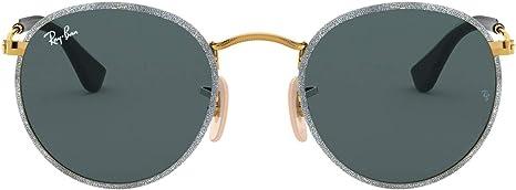 Ray-Ban RB3475Q - Gafas de sol redondas (50 mm), color plateado mate