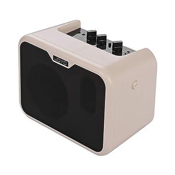 Festnight Amplificador de Bajos Eléctrico, 10 Watt Mini Altavoz Portátil Amplificador de Doble Canales con Adaptador de Corriente: Amazon.es: Instrumentos ...