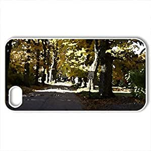 Autumn In Avondale - Case Cover for iPhone 4 and 4s (Forces of Nature Series, Watercolor style, White)