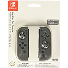PDP Joy-Con Gel Guards Case Thumb Stick Caps for Nintendo Switch, Grey