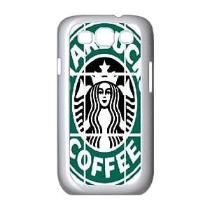 Sexyass Starbucks Coffee Samsung Galaxy S3 Case Starbucks Coffee Logo, [White]