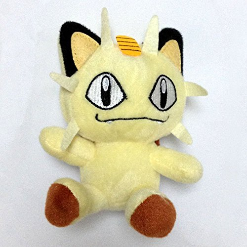 "Limited Edition Meowth Pokemon 6"" Anime Animal Stuffed Plush Plushies Doll Toys"