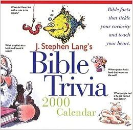 J Stephen Lang S Bible Trivia 2000 Calendar J Stephen Lang