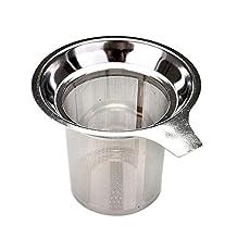 HOUSWEETY Stainless Steel Mesh Tea Infuser Metal Cup Strainer Loose Tea Leaf Filter Sieve