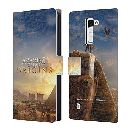 Official Assassin's Creed Bayek Sphinx Origins Key Art Leather Book Wallet Case Cover for LG K10 / K10 Dual SIM