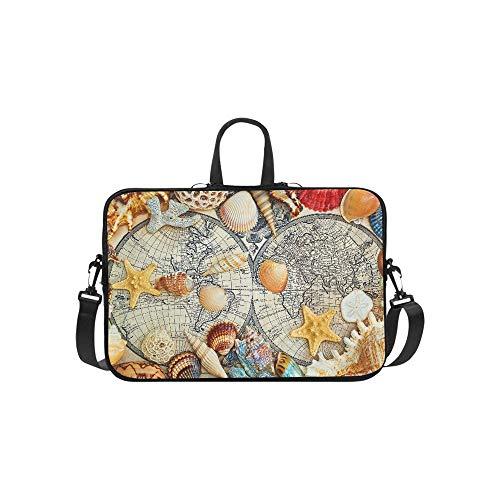 Moscow Russia April Sea Shells Lie On Pattern Briefcase Laptop Bag Messenger Shoulder Work Bag Crossbody Handbag for Business - Seashell Lies