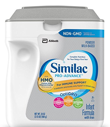 Similac Abbott Pro-Advance Non-GMO Powder Infant Formula with Iron with 2'-FL HMO for Immune Support 34 oz (Various Packs Available) (2 pack) -  Rok, ASINPRILAK12120
