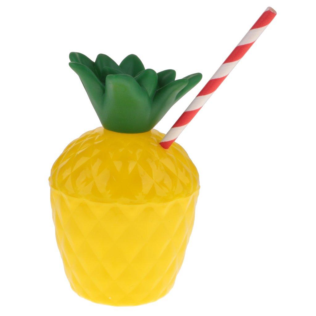 Coco Pl/ástico con Paja Estilo Hawaiana Decoraci/ón de Fiesta de Playa MagiDeal 6pcs Copa Forma de Pi/ña