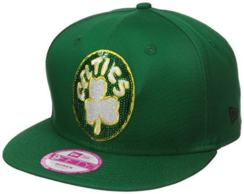NBA Boston Celtics Women's Glimmer Mixer 9Fifty Snapback Cap, One Size, Green (Celtics Snap Boston)