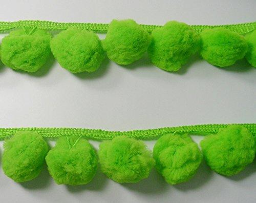 DIYcraft Giant Jumbo LIME GREEN Pompom Fringe Extra Big Pom Pom Ball Dangle Trimming Costume Embellishments for $<!--$2.99-->