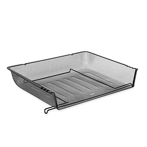 (Eldon 62555 Nestable Mesh Stacking Side Load Letter Tray Wire)
