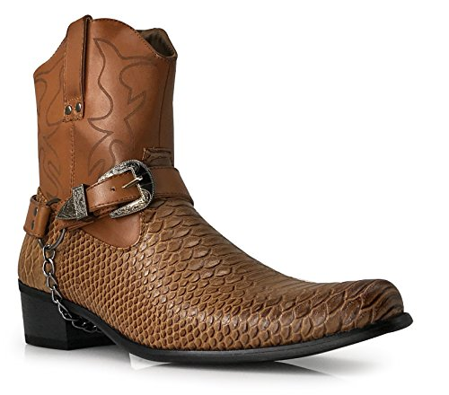 Mens Boots With Buckles - 5