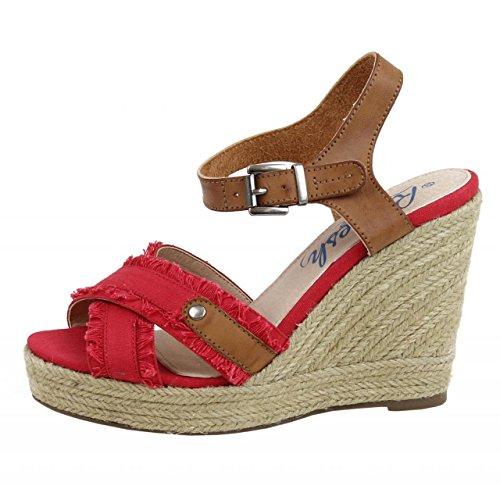 Zapatos de cuña de Mujer REFRESH 61746 LONC ROJO