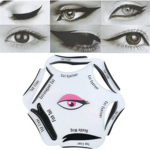 Beauty Eyeliner Stencil Models Template