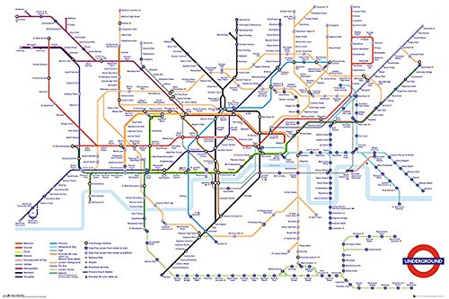 (Transport For London Underground Map Poster (24x36) PSA034314)