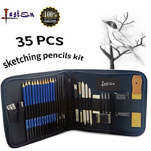 Lasten Drawing Pencils for Artists, Art Supplies Kit for Artists, Sketch Pencils Set, Graphite Pencils, 35 Pcs Shading Pencils for Students, Artists Drawing, Beginners
