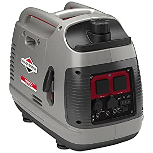 Briggs & Stratton Petrol Portable Inverter Generator PowerSmart Series P2200 featuring 2200 Watt/1700 Watt clean power…