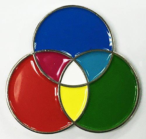 RGB Photography Artist Designer Printer Enamel Lapel Pin -