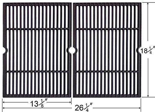 66652 Replacement Cast Iron Cooking Grid Set Of 2  For Char Broil  Coleman  Kenmore  Master Forge  Thermos   Uniflame Gas Grill Models