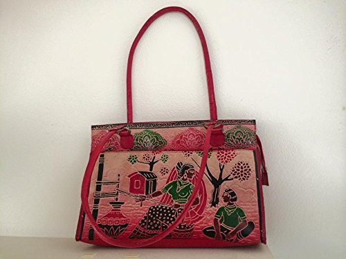 EthnicStudio | Juni Mukherjee | Hand-painted Designer Leather Handbag