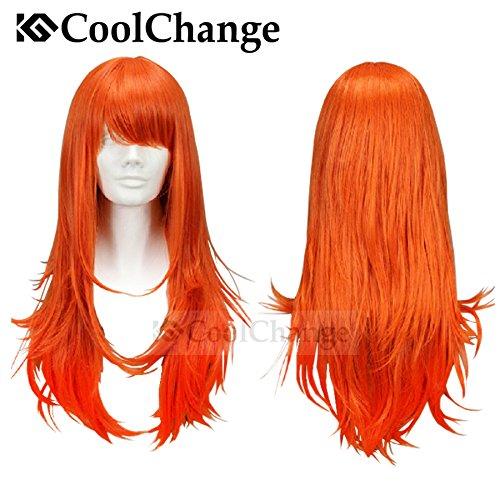Peluca naranja mujer