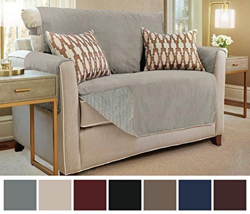 New Sectional Sofa (Gorilla Grip Original Slip-Resistant Furniture Protector, Suede-Like Material, Slip Reducing Backing, Two 2