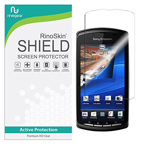 RinoGear Sony Ericsson Xperia Play Screen Protector Case Friendly Screen Protector for Sony Ericsson Xperia Play Accessory Full Coverage Clear Film (Ericsson Sony Case Phone)