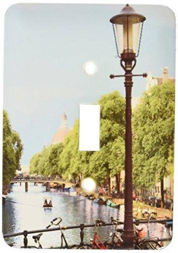 3dRose lsp_138356_1 Canal Scene, Amsterdam, Holland, Netherlands Eu20 Mgl0076 Miva Stock Single Toggle Switch -