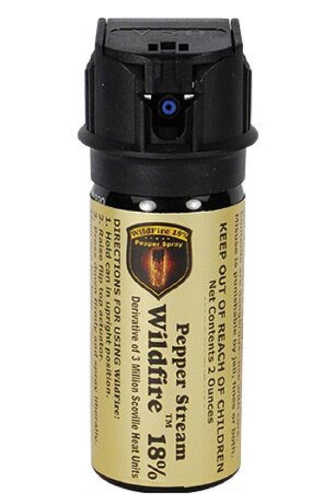 Wildfire 2 OZ 18% OC Pepper Spray Stream Flip top Actuator Home self Defense Weapon