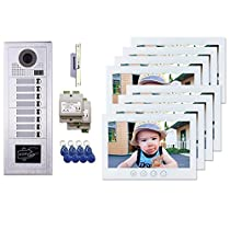 8 Resident Building Entry MT Series Video Intercom System Kit 7 Inch Monitor