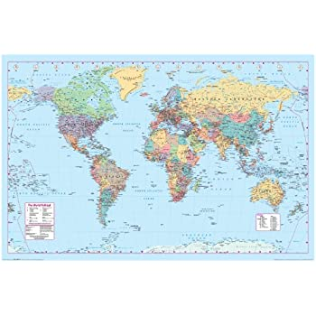 Amazoncom Aquarius World Map Poster Inch By Inch - World map poster