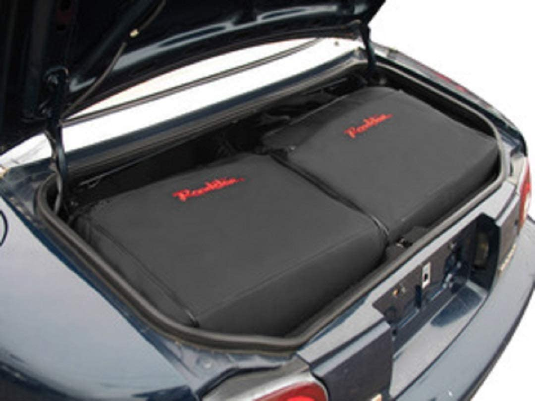 BMW Roadster Trunk Storage Container Black with Silver Embroidery