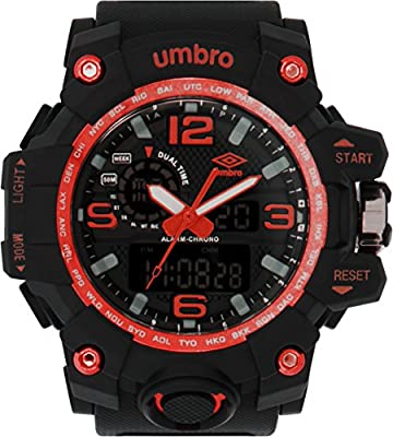 UMBRO UMB-010-4 Unisex ABS Black Band, ABS Bezel 51mm Case Digital MIYOTA AL35 SR626Sw Electronic Precision Movement Water Resistant 5 ATM Sport Watch