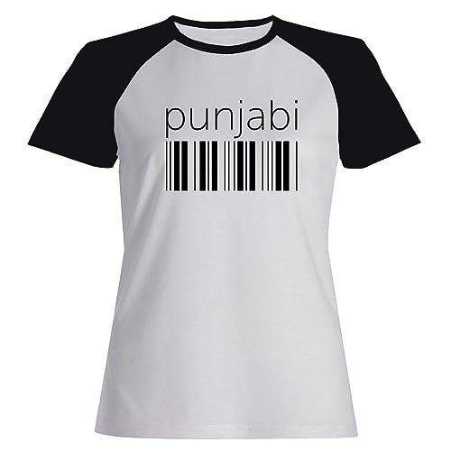 Idakoos Punjabi barcode - Lingue - Maglietta Raglan Donna