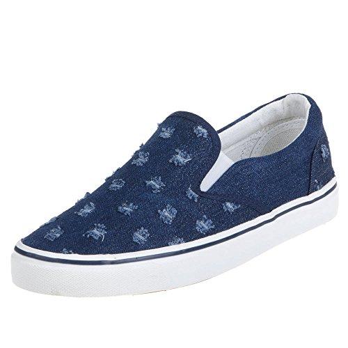 Ital-Design Damen Schuhe, Z010, Freizeitschuhe Blau