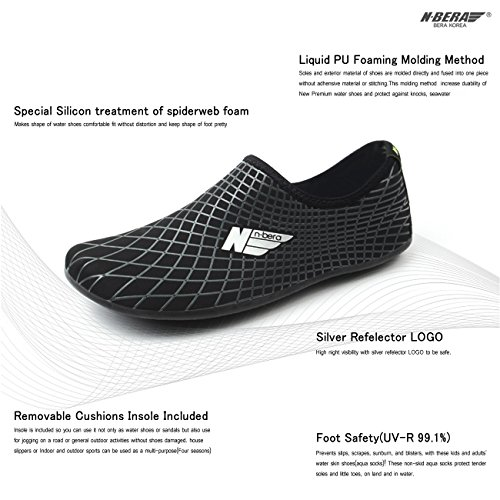 Swim Summer with Surf Flexible Outsole Sports Leisure Water for Black JustOneStyle Aqua Skin Beach Shoes Socks Barefoot OPRwqR