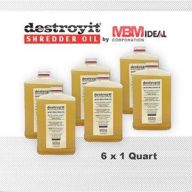 MBM Destroyit Paper Shredder Oil (6 x 1 quart) - CED216 by Destroyit by MBM, MBM