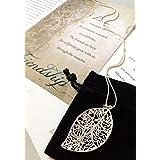 Smiling Wisdom - Silver Leaf Necklace Reason Season Lifetime Friend Gift Set - Friendship Greeting Card - Leaf Pendant Sentiment - For Good True Best Friend - Pendant 2.25x1.25 - .925 Silver Plated