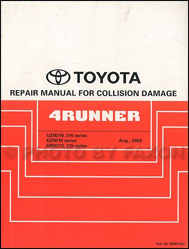 2003-2009 Toyota 4Runner Body Collision Repair Shop Manual Original