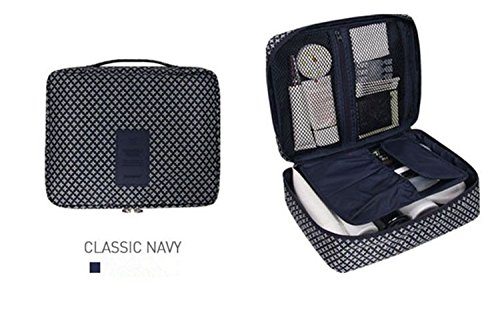 Makeup Bags Portable Kit Travel Handbag Waterproof Insert Storage Organizer Case Classic Navy from Passionate Adventure