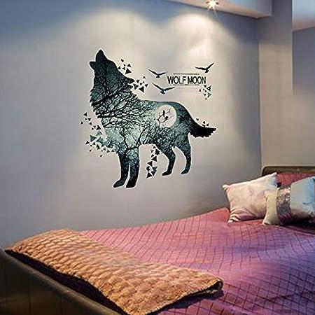 Adesivi Murali Animali Per Bambini.Tykcrt Adesivi Murali Lupo Vinile Decalcomanie Murali Animali Fai