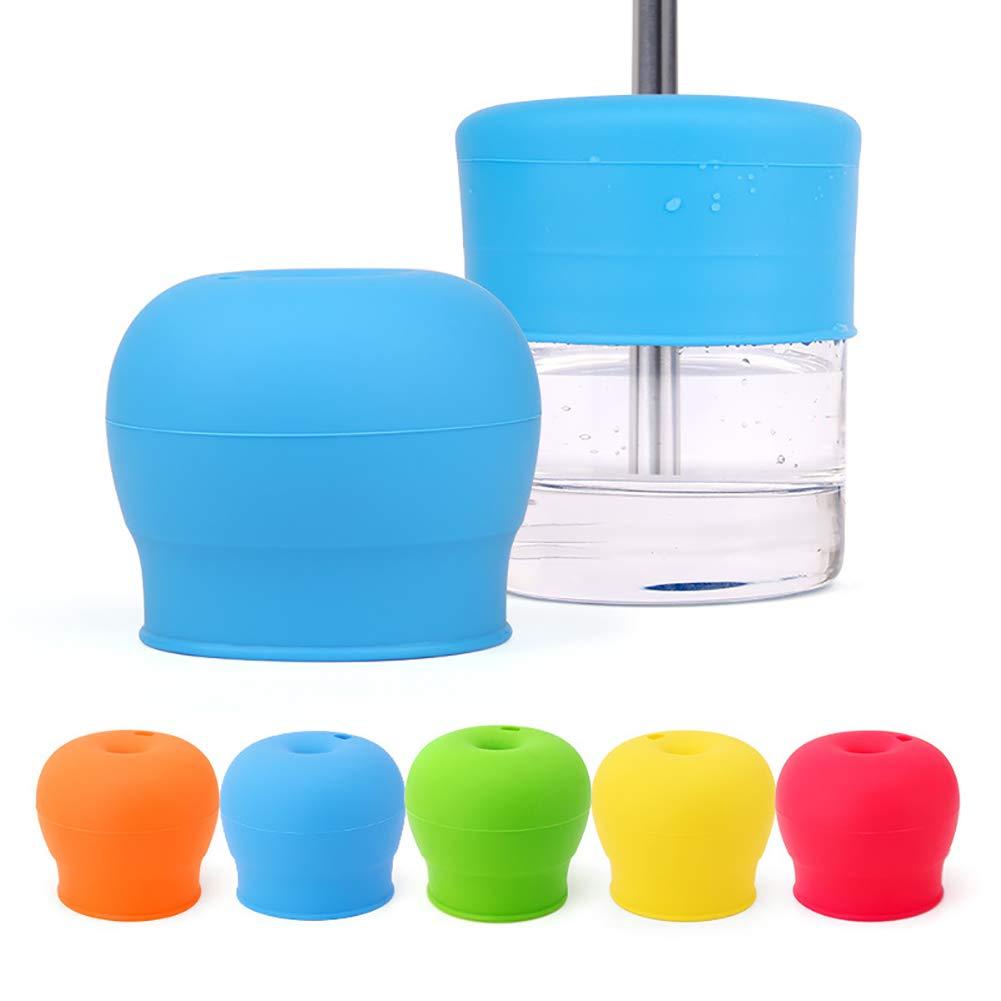 colore casuale Naisicatar 1PC silicone paglia Coppa Coperchi per i pi/ù piccoli bambini riutilizzabile durevole bel regalo spill-proof Coppa coperchi