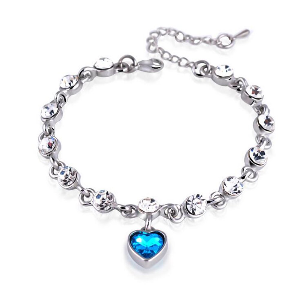 BIGBOBA 1Pcs Simple Crystal Bracelet Diamond Bracelet Festival Birthday Gift For Womens Girls