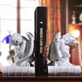 LPY-Set of 2 Bookends Resin Angel Style Handicrafts, Book Ends for Office or Study Room Home Shelf Decorative