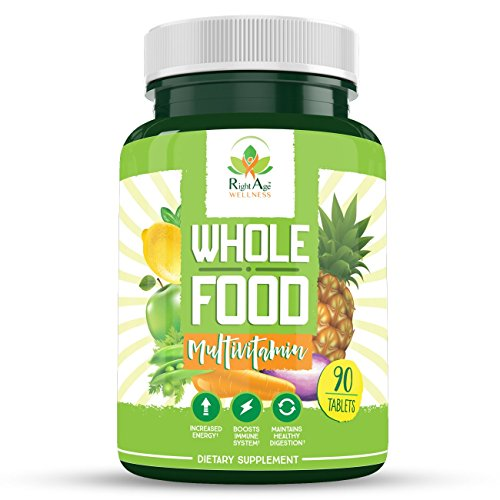Whole Food Multivitamin by RightAge Wellness – Whole Food Multivitamin for Women, Whole Food Multivitamin for Men – Improved Energy, Improved Immunity, Fat Loss, Fruit and Vegetable